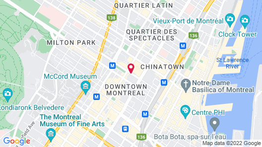 DoubleTree by Hilton Montreal Map