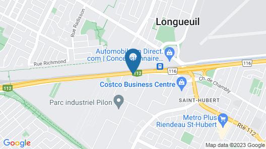 Grand Motel St-Hubert Map
