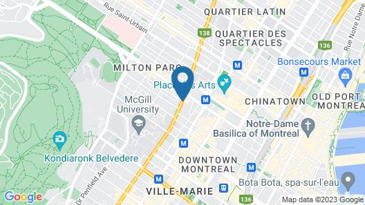 Hilton Garden Inn Montréal Centre-ville Map