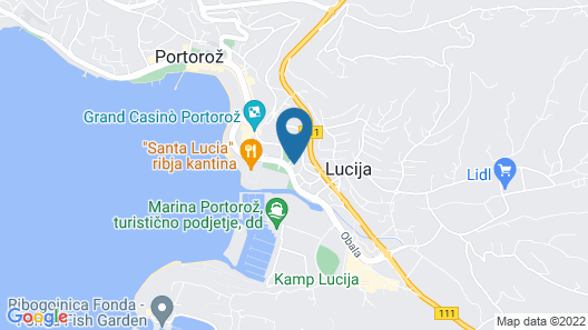 Boutique Hotel Portorose Map