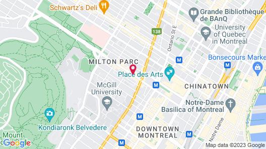 Hotel Milton-Parc Map