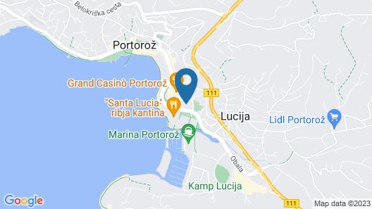 Lavanda & Cappuccino Apartments Portorož Map