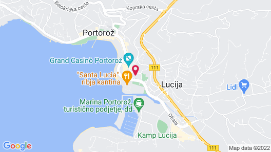 Remisens Hotel LUCIJA Map