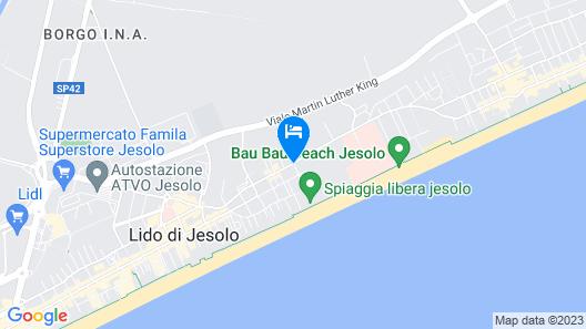 Almar Jesolo Resort & Spa Map