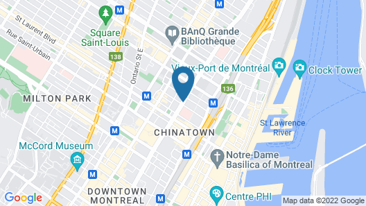 Hotel Faubourg Montreal Downtown Hotel Map