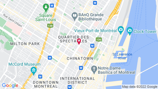 Candlewood Suites Montreal, an IHG Hotel Map