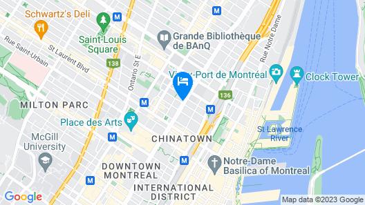 Hotel Chrome Montréal Centre-ville Map