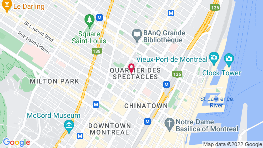 Best Western Plus Hotel Montreal Map