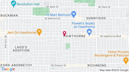 HI Portland Hawthorne District - Hostel Map