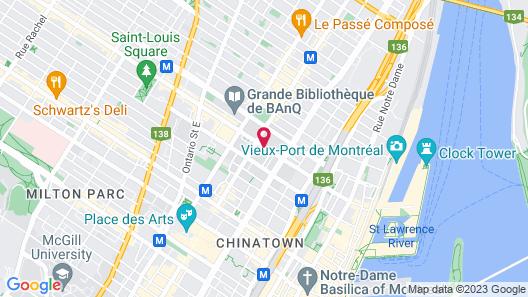 Hotel St-Denis Map