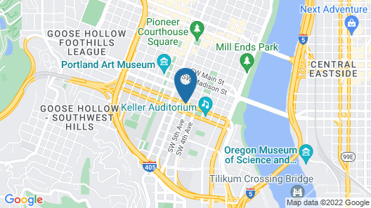 The Hotel Zags Portland Map