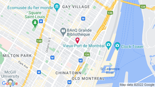 Hotel Le Roberval Map
