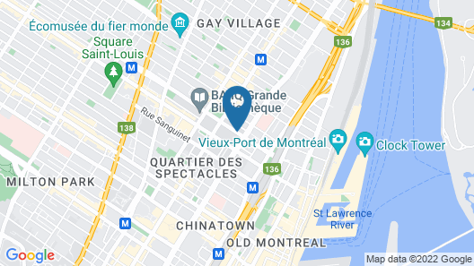 Fairfield by Marriott Montreal Downtown Map