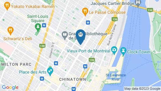 Hotel Les Suites Labelle Map