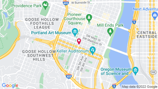 Radisson RED Portland Downtown Map