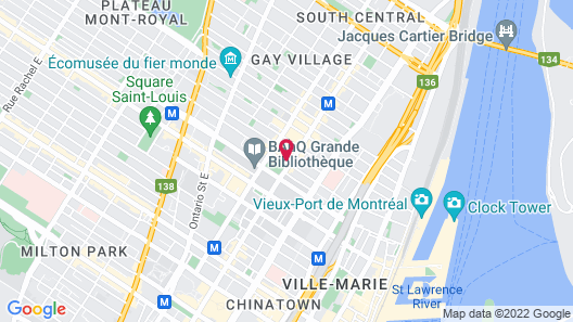 Hotel Place Dupuis Montreal Downtown Ascend Hotel Collection Map