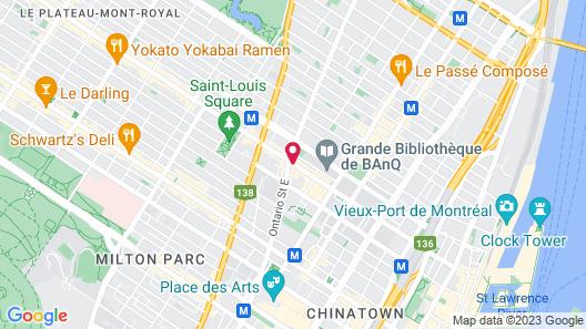 Hotel Quartier Latin Montréal Map