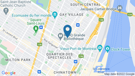Hyatt Place Montreal Downtown Map