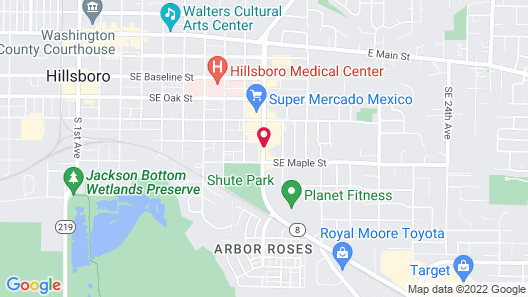 Econo Lodge Inn & Suites Hillsboro - Portland West Map