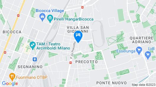 Hilton Garden Inn Milan North Map