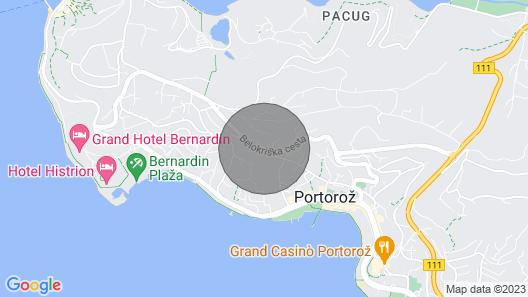 1 Bedroom Accommodation in Portoroz Map