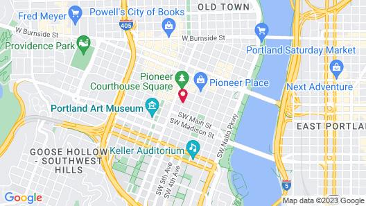 Hilton Portland Downtown Map