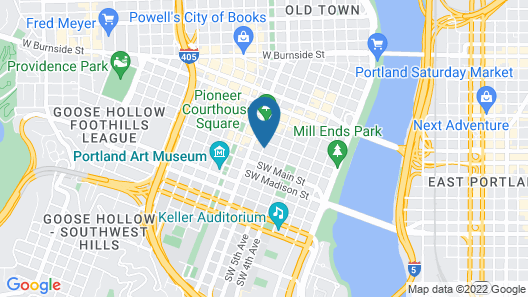 Hilton Portland Downtown Map