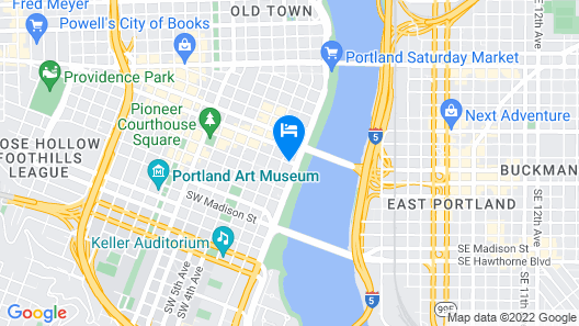 Staypineapple, Hotel Rose, Downtown Portland Map