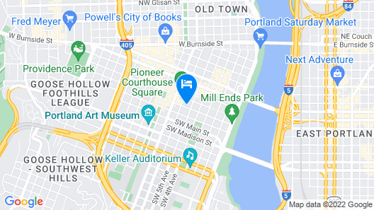The Duniway Portland A Hilton Hotel Map