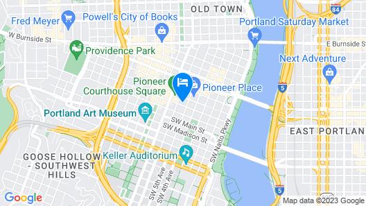 The Duniway Portland A Hilton Hotel Map