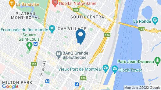 Studios Montcalm Montreal Map