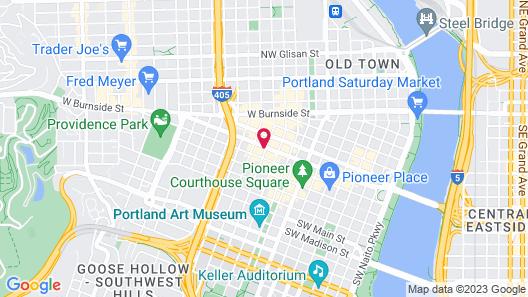 Hyatt Centric Downtown Portland Map