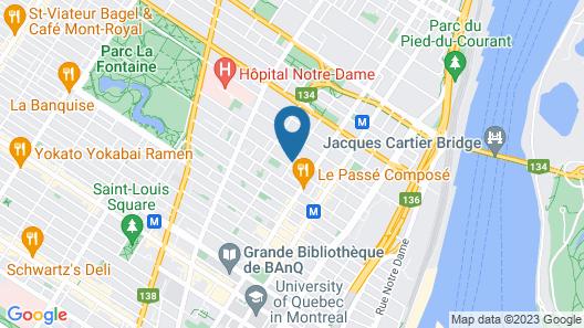 Maison des Jardins B&B Map
