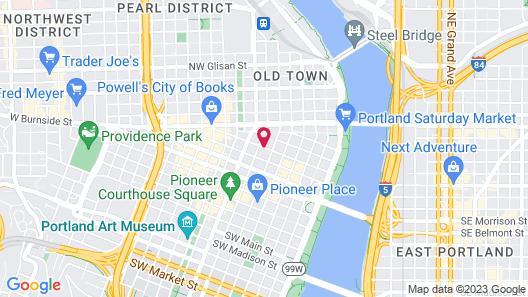 Courtyard by Marriott Portland City Center Map