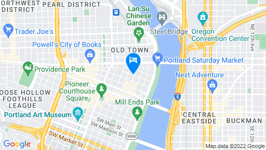 Embassy Suites by Hilton Portland Downtown Map