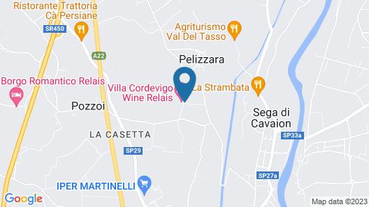 Villa Cordevigo Wine Relais Map