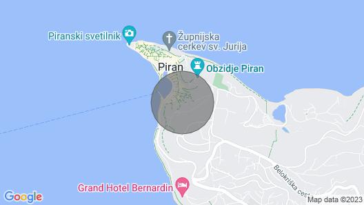 Three Mermaids House, Piran Map