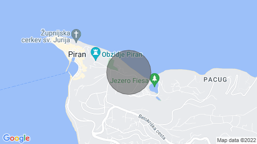 1 bedroom accommodation in Piran Map