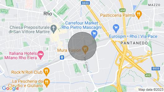 Bright Apartment Near Rho Fiera Milan Map