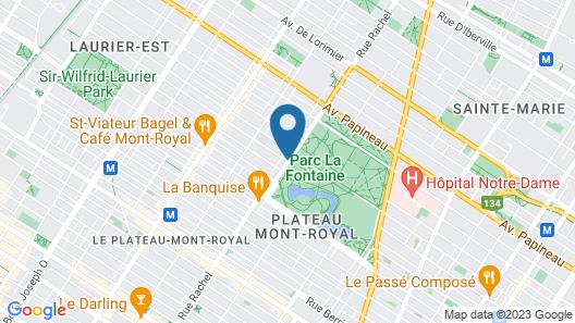 Auberge de La Fontaine Map