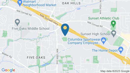 Homewood Suites by Hilton Hillsboro/Beaverton Map