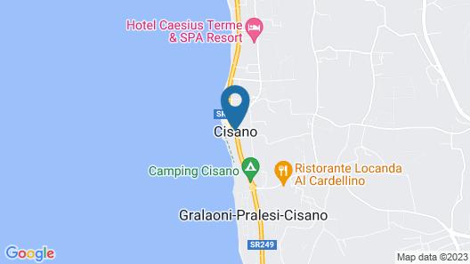 Camping Cisano Map