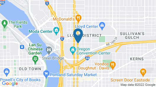 Motel 6 Portland, OR - Downtown Map