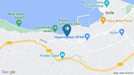 Hotel Haliaetum - San Simon Resort Map