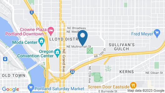 DoubleTree by Hilton Hotel Portland Map