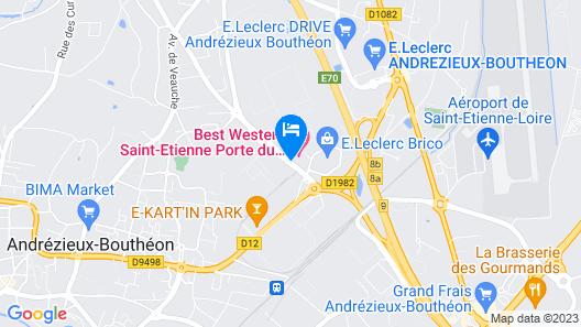 Best Western Saint-Etienne Porte du Forez Map