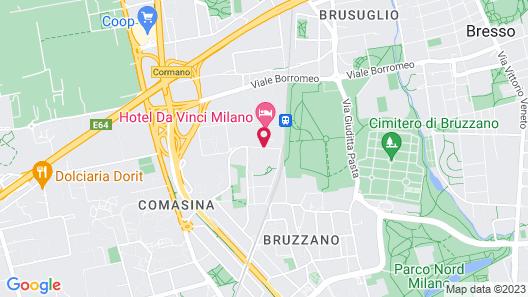 Hotel Da Vinci Map