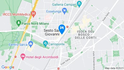 Sesto San Giovanni Apartment, Railing House. Metro line 1 Sesto Rondò Map