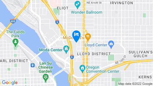 Crowne Plaza Portland Downtown Convention Center, an IHG Hotel Map