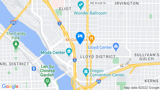 Crowne Plaza Portland Downtown Convention Center Map